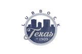 Lubbock, Texas - Skyline Seal (Blue) Posters by  Lantern Press
