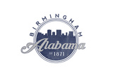 Birmingham, Alabama - Skyline Seal (Blue) Print by  Lantern Press