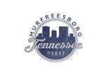 Murfreesboro, Tennessee - Skyline Seal (Blue) Posters by  Lantern Press