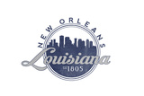 New Orleans, Louisiana - Skyline Seal (Blue) Prints by  Lantern Press