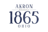 Akron, Ohio - Established Date (Blue) Prints by  Lantern Press