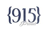 El Paso, Texas - 915 Area Code (Blue) Prints by  Lantern Press