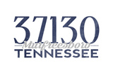 Murfreesboro, Tennessee - 37130 Zip Code (Blue) Posters by  Lantern Press