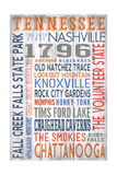 Tennessee - Barnwood Typography Prints by  Lantern Press