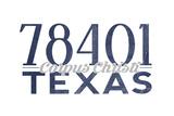 Corpus Christi, Texas - 78401 Zip Code (Blue) Posters by  Lantern Press