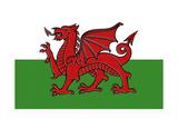 Wales Country Flag - Letterpress Kunstdrucke von  Lantern Press