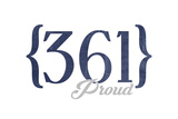 Corpus Christi, Texas - 361 Area Code (Blue) Print by  Lantern Press