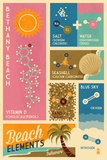 Bethnay Beach, Delaware - Chemical Beach Elements Posters by  Lantern Press