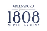 Greensboro, North Carolina - Established Date (Blue) Posters by  Lantern Press