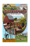 Bakersfield, California - Montage Posters by  Lantern Press