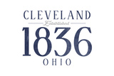 Cleveland, Ohio - Established Date (Blue) Posters by  Lantern Press