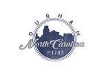 Durham, North Carolina - Skyline Seal (Blue) Prints by  Lantern Press