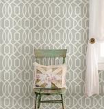 Grey Grand Trellis Peel & Stick Wallpaper Selvklæbende tapet (aftageligt)