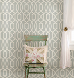 Grey Grand Trellis Peel & Stick Wallpaper ウォールステッカー