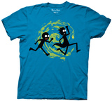Rick And Morty- Silhouettes Run Shirts