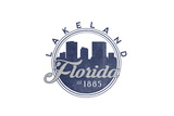 Lakeland, Florida - Skyline Seal (Blue) Poster by  Lantern Press