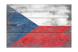 Czech Republic Country Flag - Barnwood Painting Posters by  Lantern Press