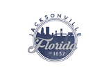 Jacksonville, Florida - Skyline Seal (Blue) Posters by  Lantern Press