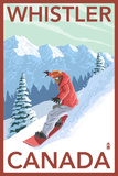 Whistler, Canada - Snowboarder Print by  Lantern Press