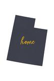 Utah - Home State - Gray on White Prints by  Lantern Press