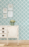 Blue Links Peel & Stick Wallpaper Decalques de parede