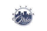 Dayton, Ohio - Skyline Seal (Blue) Print by  Lantern Press