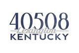 Lexington, Kentucky - 40508 Zip Code (Blue) Art by  Lantern Press