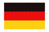 Germany Country Flag - Letterpress Prints by  Lantern Press