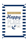 Delaware - Rehoboth Beach is My Happy Place - Stripes Posters by  Lantern Press