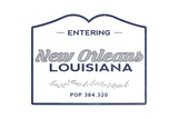 New Orleans, Louisiana - Now Entering (Blue) Posters by  Lantern Press