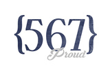 Toledo, Ohio - 567 Area Code (Blue) Prints by  Lantern Press