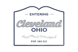 Cleveland, Ohio - Now Entering (Blue) Posters by  Lantern Press