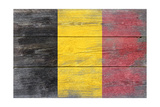 Belgium Country Flag - Barnwood Painting Posters by  Lantern Press