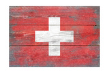 Switzerland Country Flag - Barnwood Painting Prints by  Lantern Press