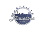 Knoxville, Tennessee - Skyline Seal (Blue) Prints by  Lantern Press