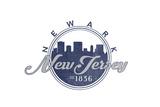 Newark, New Jersey - Skyline Seal (Blue) Prints by  Lantern Press