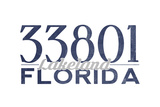 Lakeland, Florida - 33801 Zip Code (Blue) Posters by  Lantern Press