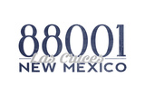 Las Cruces, New Mexico - 88001 Zip Code (Blue) Prints by  Lantern Press