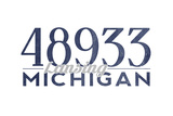 Lansing, Michigan - 48933 Zip Code (Blue) Prints by  Lantern Press