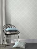 Grey Quatrefoil Peel & Stick Wallpaper Selvklæbende tapet (aftageligt)