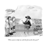 """Who wants to help me with the fireworks this year?"" - New Yorker Cartoon Premium Giclee Print by Tom Toro"