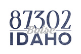 Boise, Idaho - 87302 Zip Code (Blue) Posters by  Lantern Press