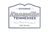 Knoxville, Tennessee - Now Entering (Blue) Posters by  Lantern Press