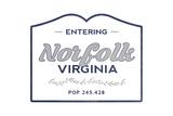 Norfolk, Virginia - Now Entering (Blue) Posters by  Lantern Press