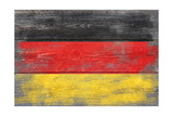 Germany Country Flag - Barnwood Painting Prints by  Lantern Press