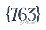 Minneapolis, Minnesota - 763 Area Code (Blue) Prints by  Lantern Press