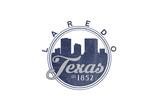Laredo, Texas - Skyline Seal (Blue) Prints by  Lantern Press