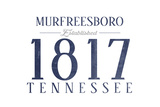 Murfreesboro, Tennessee - Established Date (Blue) Prints by  Lantern Press