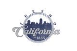 Fresno, California - Skyline Seal (Blue) Print by  Lantern Press
