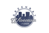 Green Bay, Wisconsin - Skyline Seal (Blue) Posters by  Lantern Press